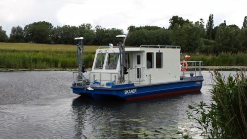 Budujemy statki badawcze przeznaczone do badania dna akwenów wodnych.