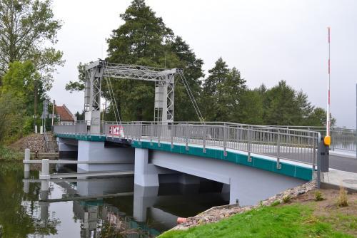 Most zwodzony w Tujsku. Budowa zrealizowana  w 2020 roku.