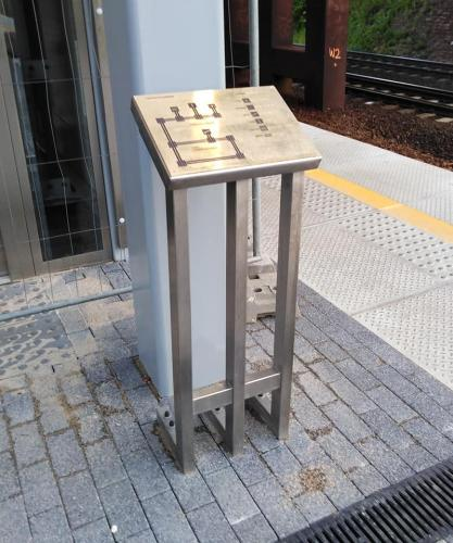 Pulpit dla niewidomych. Budowa dworca kolejowego w Gdyni Redłowie. Rok2019