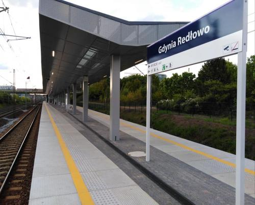 Budowa dworca w Gdyni Redłowie. 2019 rok.