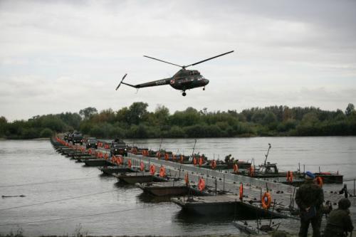 Most pontonowy wyremontowany w Stoczni Żuławy dla Brygady Saperów. Remont realizowany cyklicznie w latach 1990 – 2005.